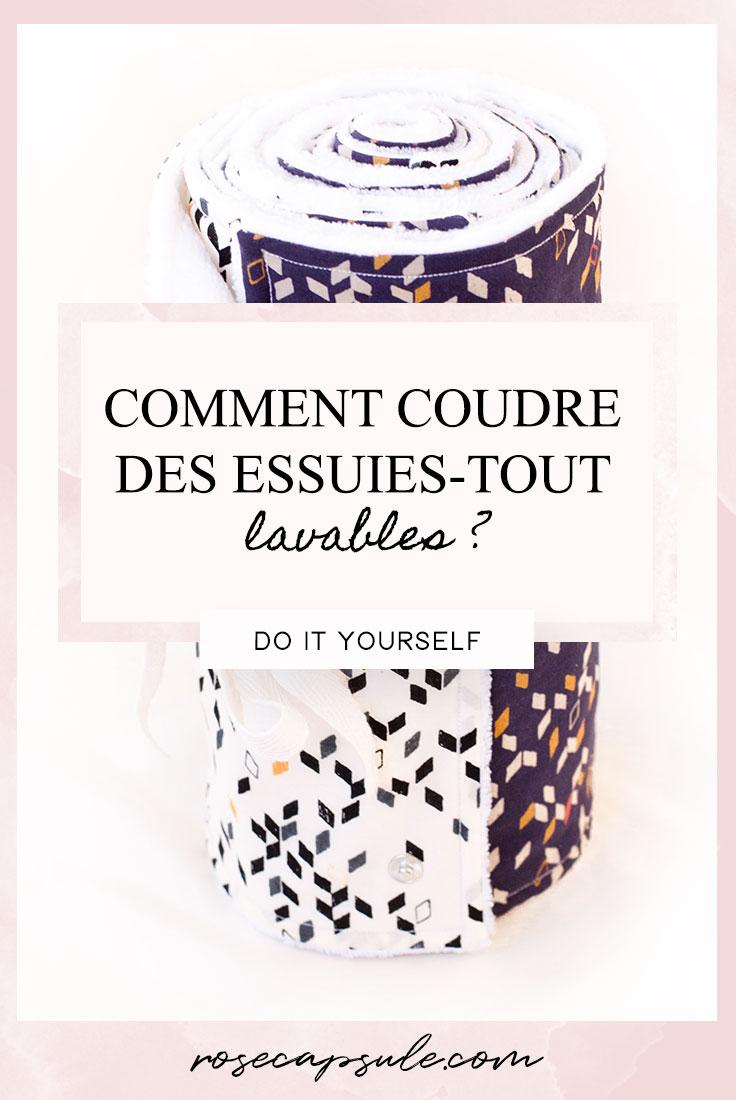 DIY zéro déchet : Comment réaliser des essuies-tout lavables ? • Rose Capsule