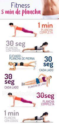 Fitness: 5 minutos de planchas (plank) para transformar tu cuerpo #ejercicios #fitness #plank #planc...