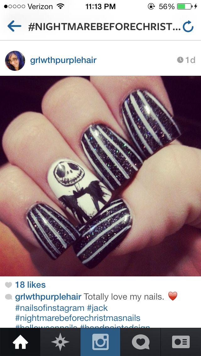 Jack skellington nails | nails | Pinterest | Jack skellington and ...