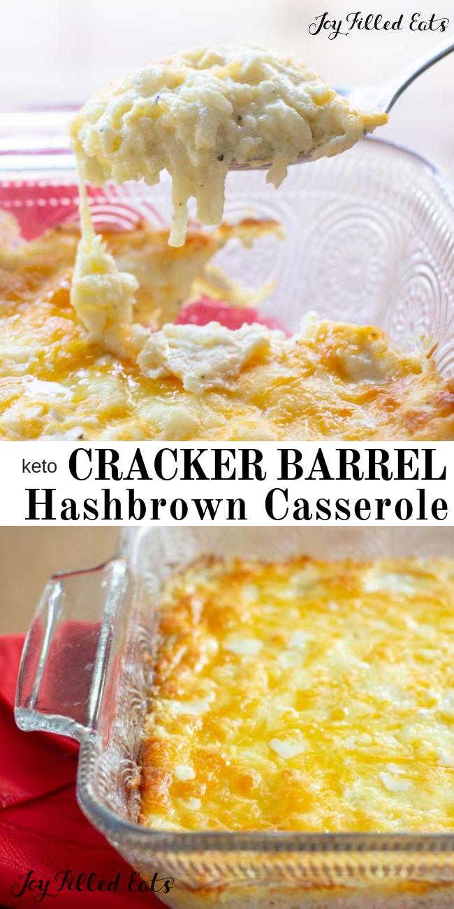 Cracker Barrel Hashbrown Casserole - Keto, Low Carb, THM S