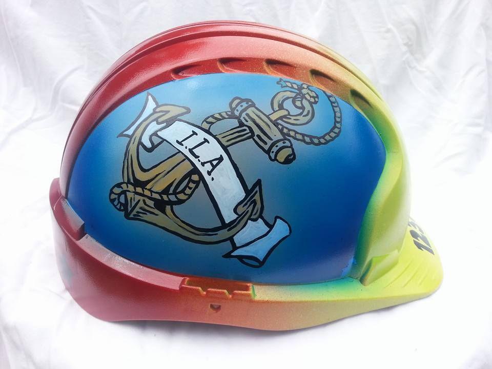 Hard Hat Work Helmet By Steve Green Airbrush Spray Paint And Brush Work Helmet Art Hard Hat Steve Green