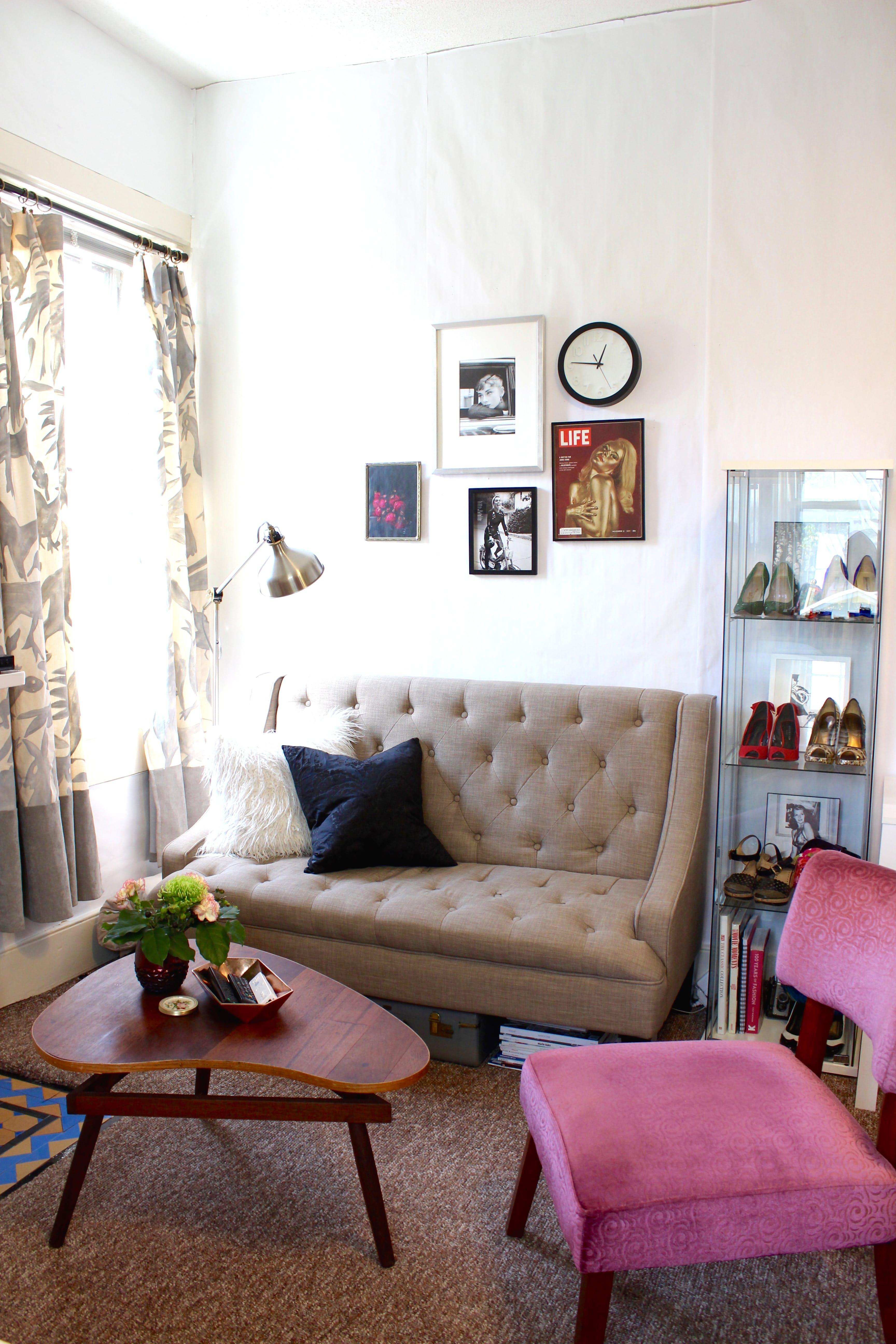 "A Mini ""Beatnik Chic"" Studio Apartment Rowe furniture"