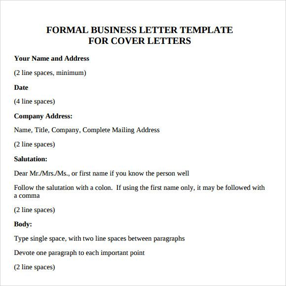 Business Letter Format Sample Download Free Documents Pdf Example