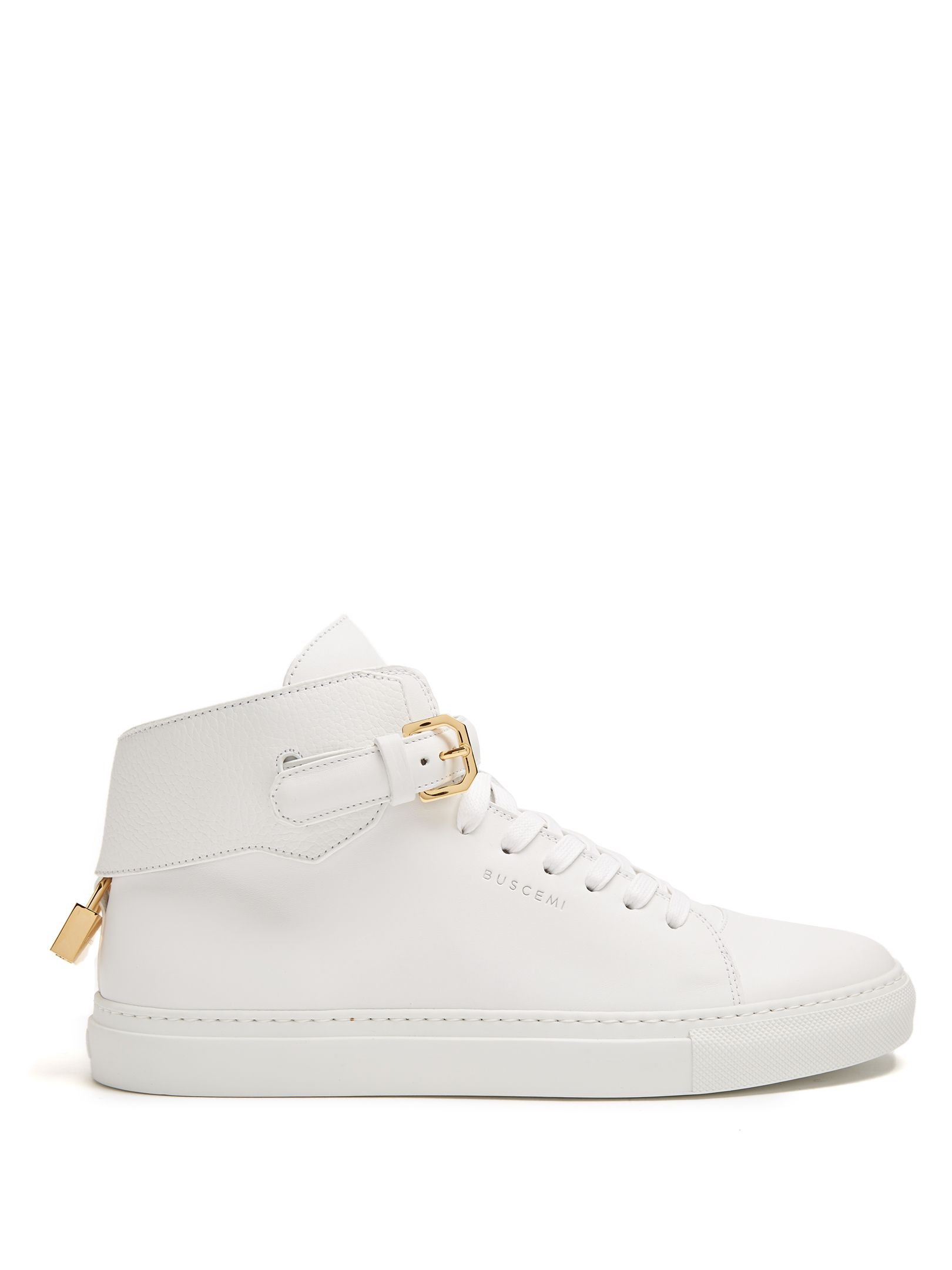 100mm Buckle suede high-top trainers Buscemi FEnv6Nz8mX