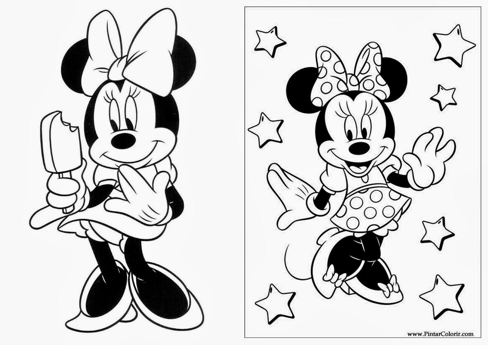 Minnie Libro Para Colorear Para Imprimir Gratis En 2020 Libros Para Colorear Bailarina Para Pintar Minnie