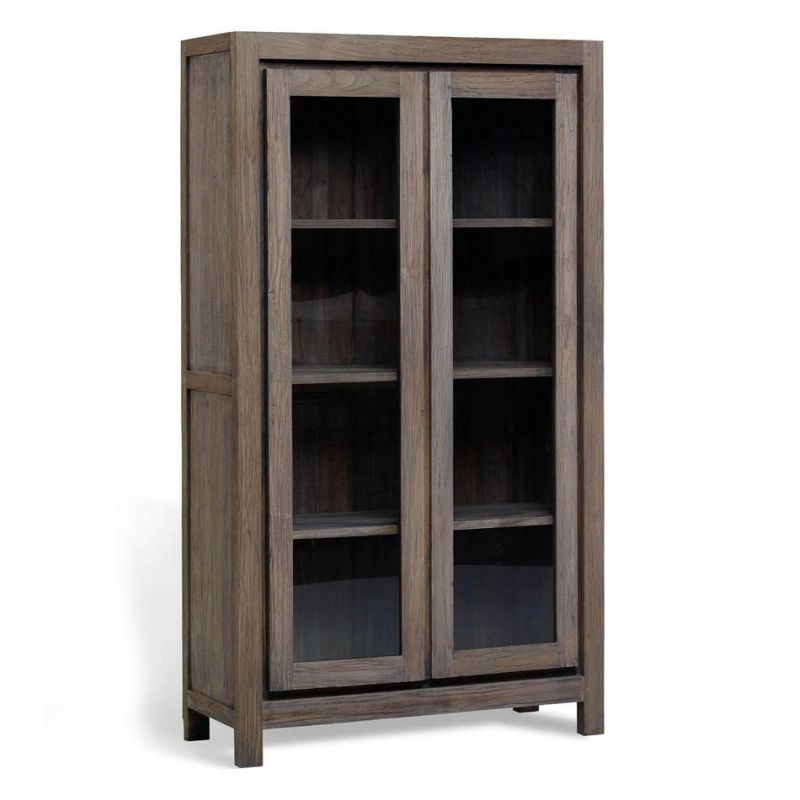 Reclaimed Wood Display Cabinet Modern Aged Furniturecabinets