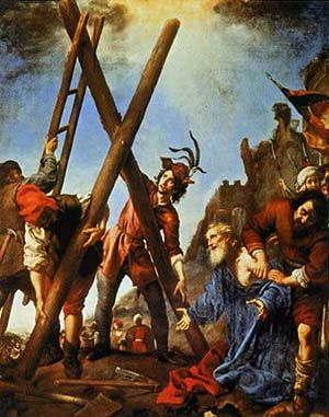 St Andrew Salutes The Cross Before Being Crucified Carlo Doci C 1631 Andrew The Apostle Caravaggio Paintings European Art