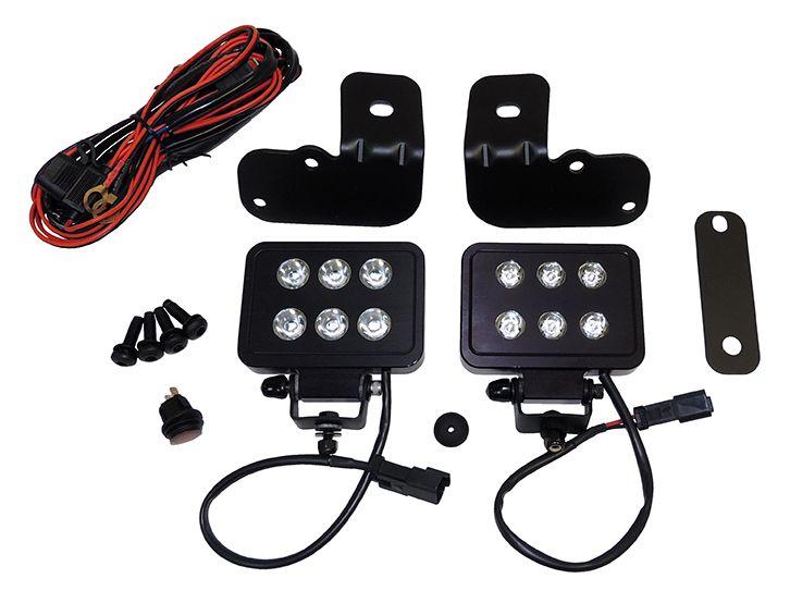 Led Block Lamp Kit 4 Inch Lighting Rt Off Road Led Jeep Wrangler Jk Offroad