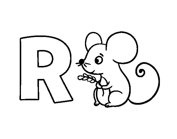 Dibujo del Abecedario - Letra R para colorear | Letras | Pinterest