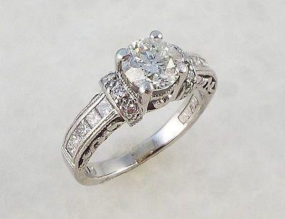 TACORI PLATINUM 1.50 Carat Ring - with 1ct Diamond Solitaire Engagement Wedding