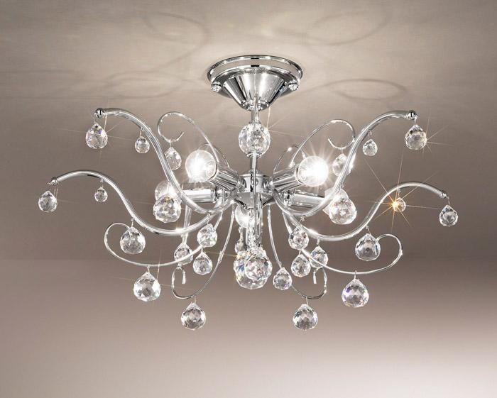 Flush Mount Crystal Ceiling Light Camilla 05 Lighting Online Lamps In Bulgaria