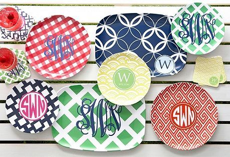 Fabulous Fun Finds: Preppy Plates