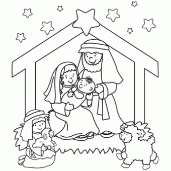 online christmas nativity printables | christmas nativity - Baby Jesus Coloring Pages Kids