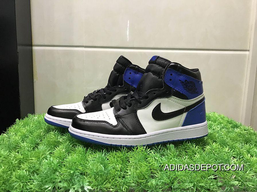 Air Jordan 1 White Black Blue WOMEN MEN Super Deals