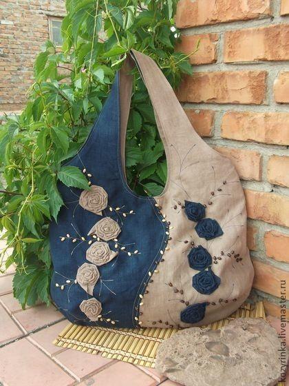 ddb665c431ed Джинсовые сумки своими руками. Фото и выкройки | шитье | Джинсовая ...