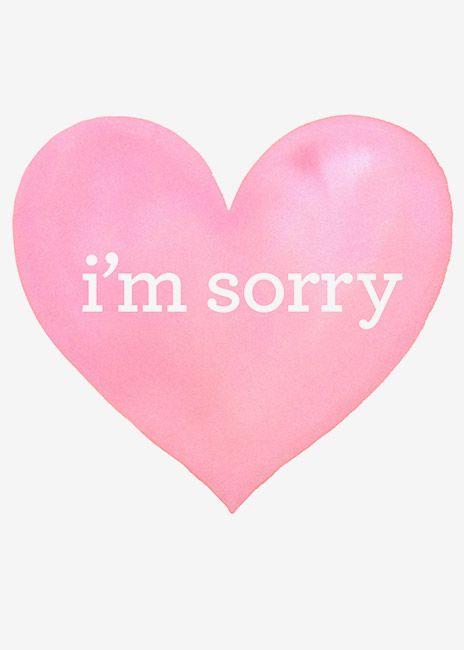 Margaret Berg Art Sorry Pink Heart Im Sorry Cards Love