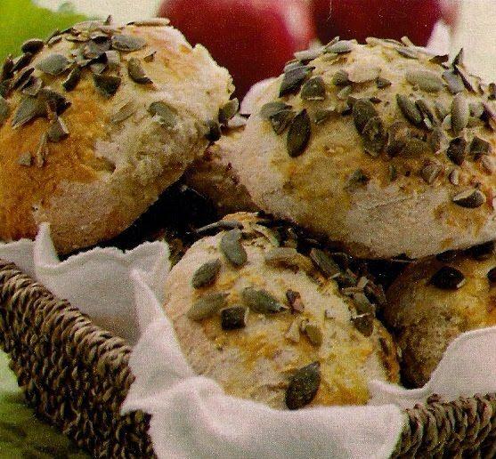 Min opskriftbog: Æbleboller med græskarkerner