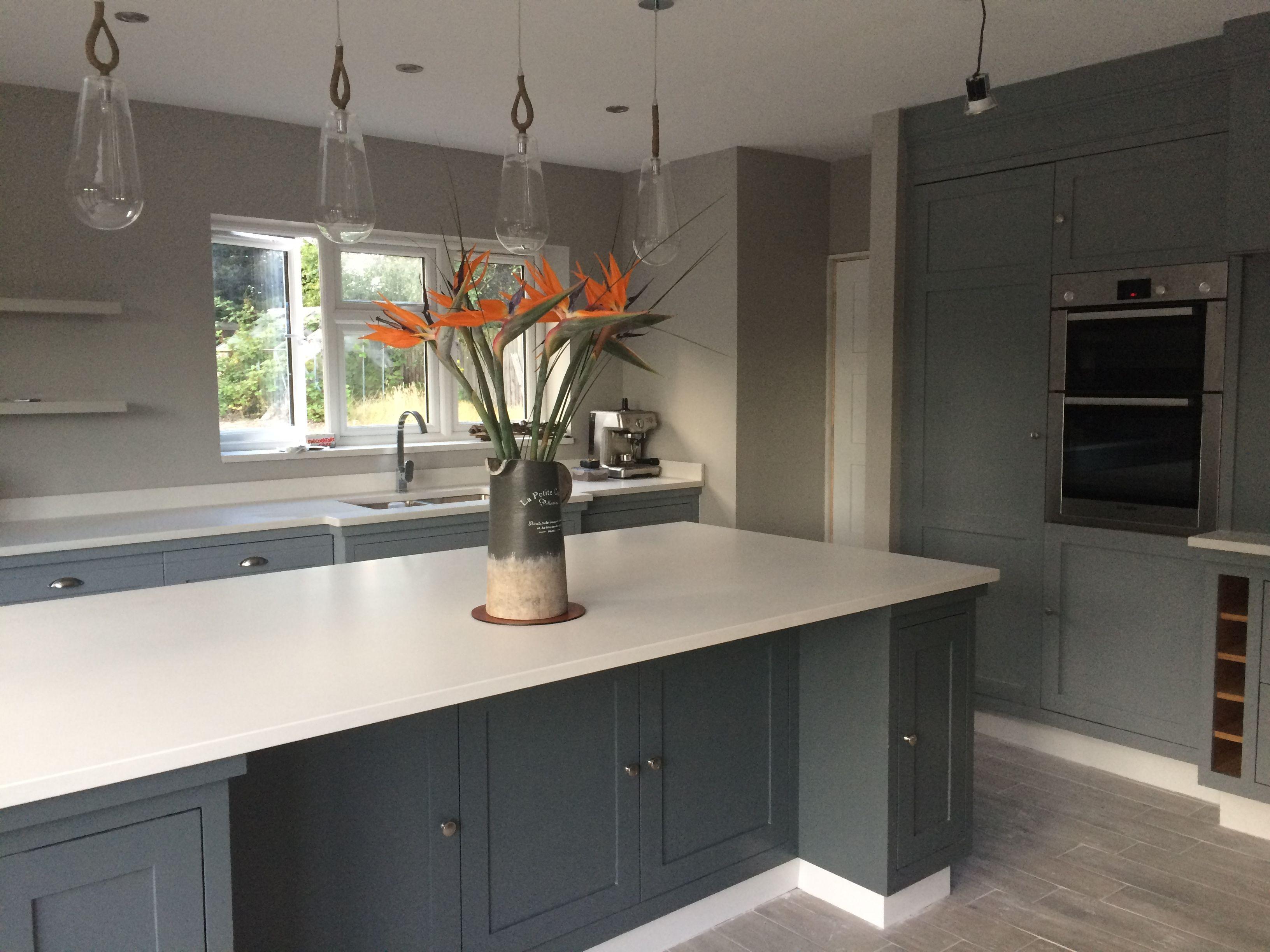 My beautiful FreeStand Interiors kitchen. Farrow & Ball Plummet on ...