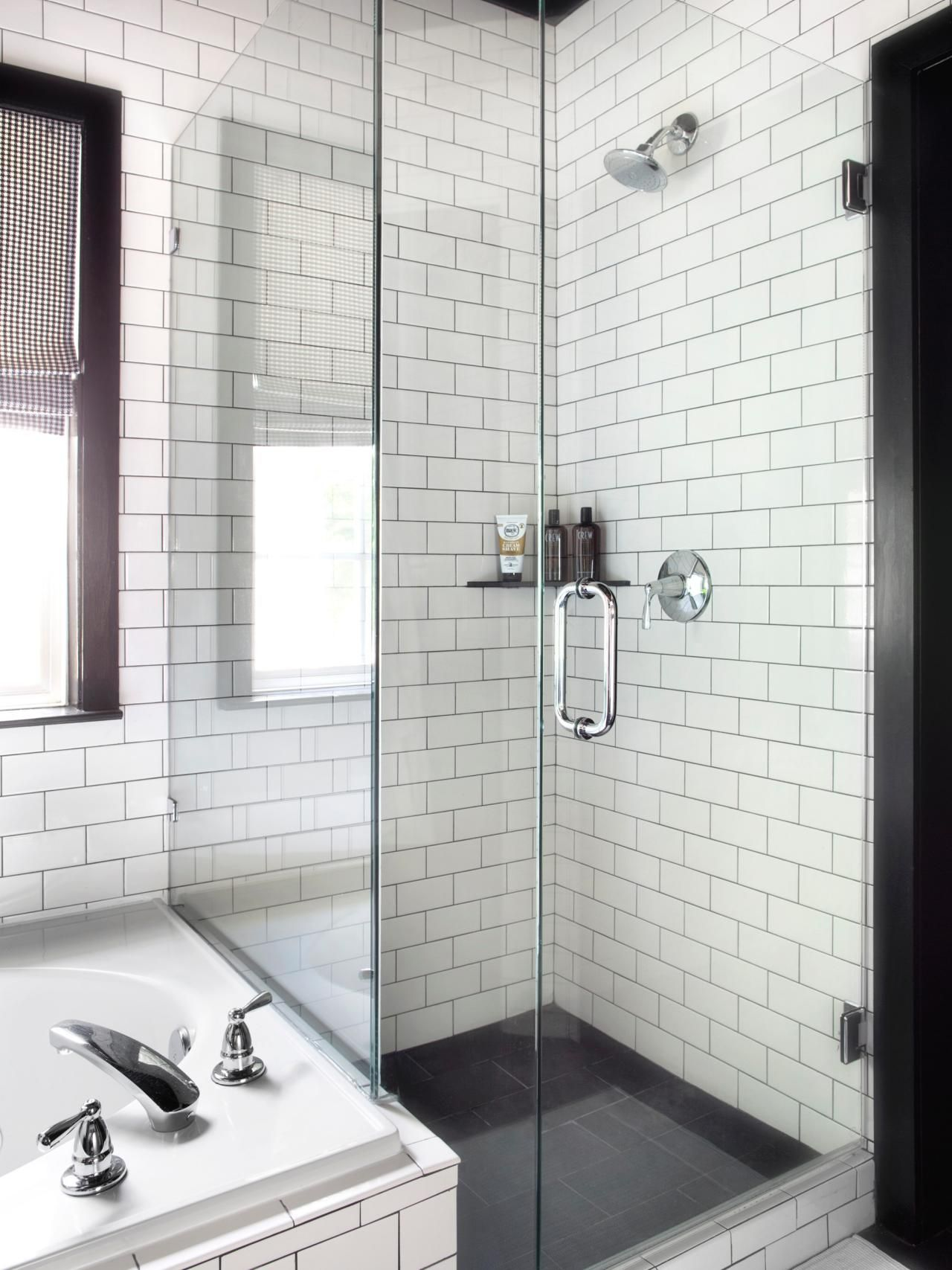 Timeless Black and White Master Bathroom Makeover | Pinterest ...