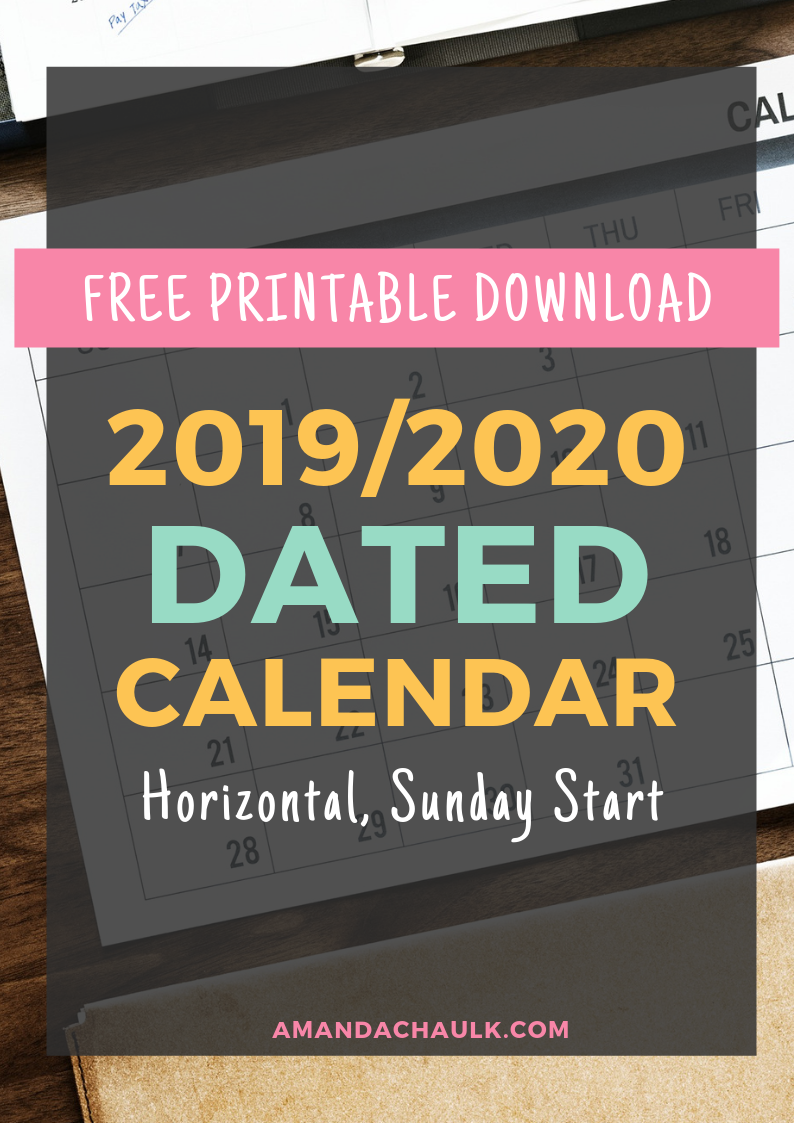 Free Printable Calendars September-December 2020 16 MONTH CALENDAR. September 2019   December 2020. Horizontal