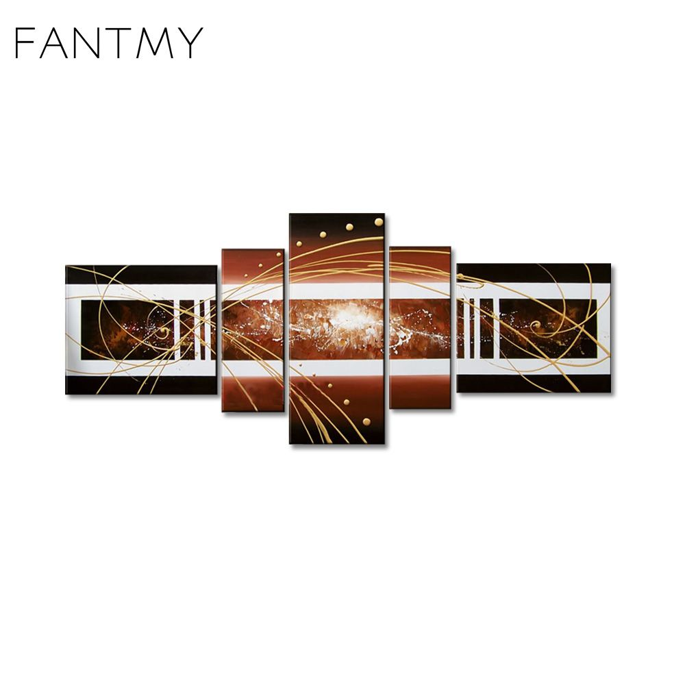 Free shipping buy best fantmy hand painted acrylic frameless modern