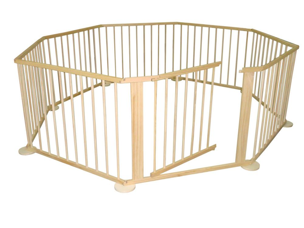 8 SIDED FOLDABLE WOODEN BABY PLAYPEN 7.2M TOTAL LENGTH