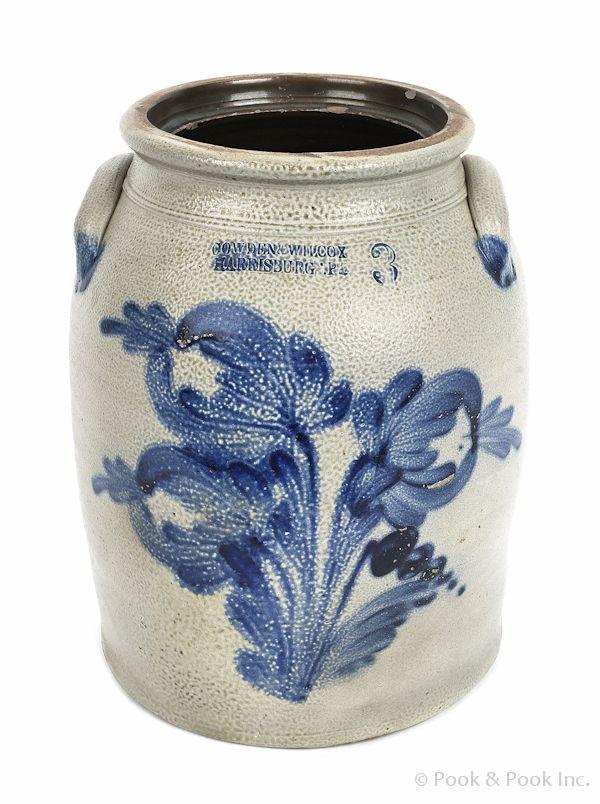 J Beaumont York Maine Salt-Glazed Stoneware 1981 Quail Bird Design 6-12 Flared-Rim Bowl in Excellent Condition
