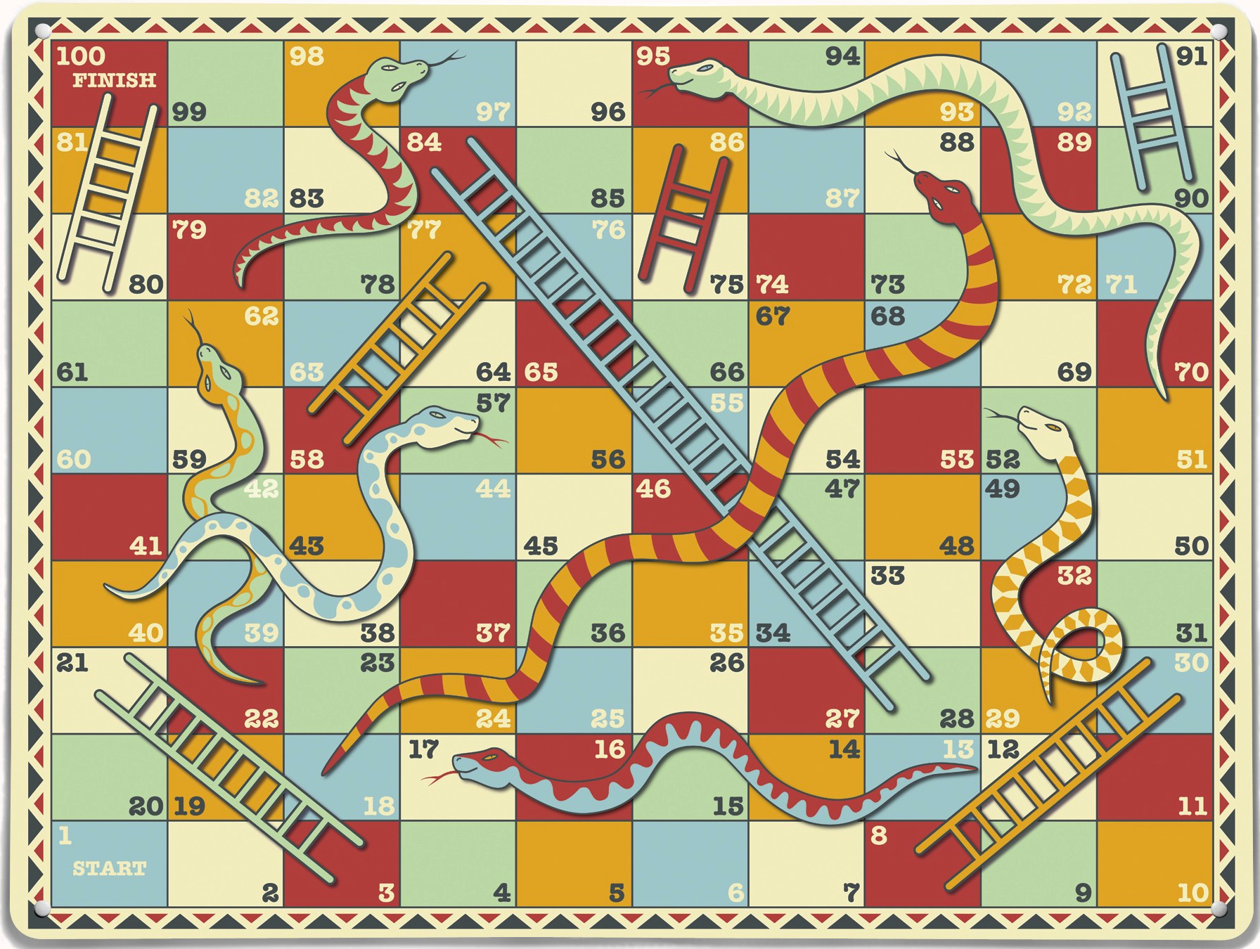Pictures images snakes and ladders board game template wallpaper - Snakes And Ladders Classic Board Gamesgame