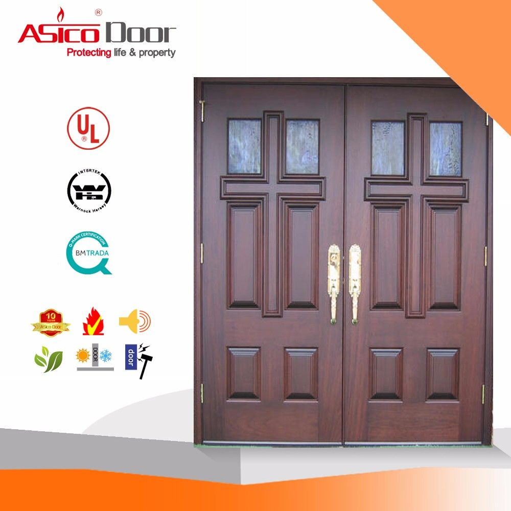 Solid Wooden Fire Rated Wooden Church Door Design With Bm Trada ...
