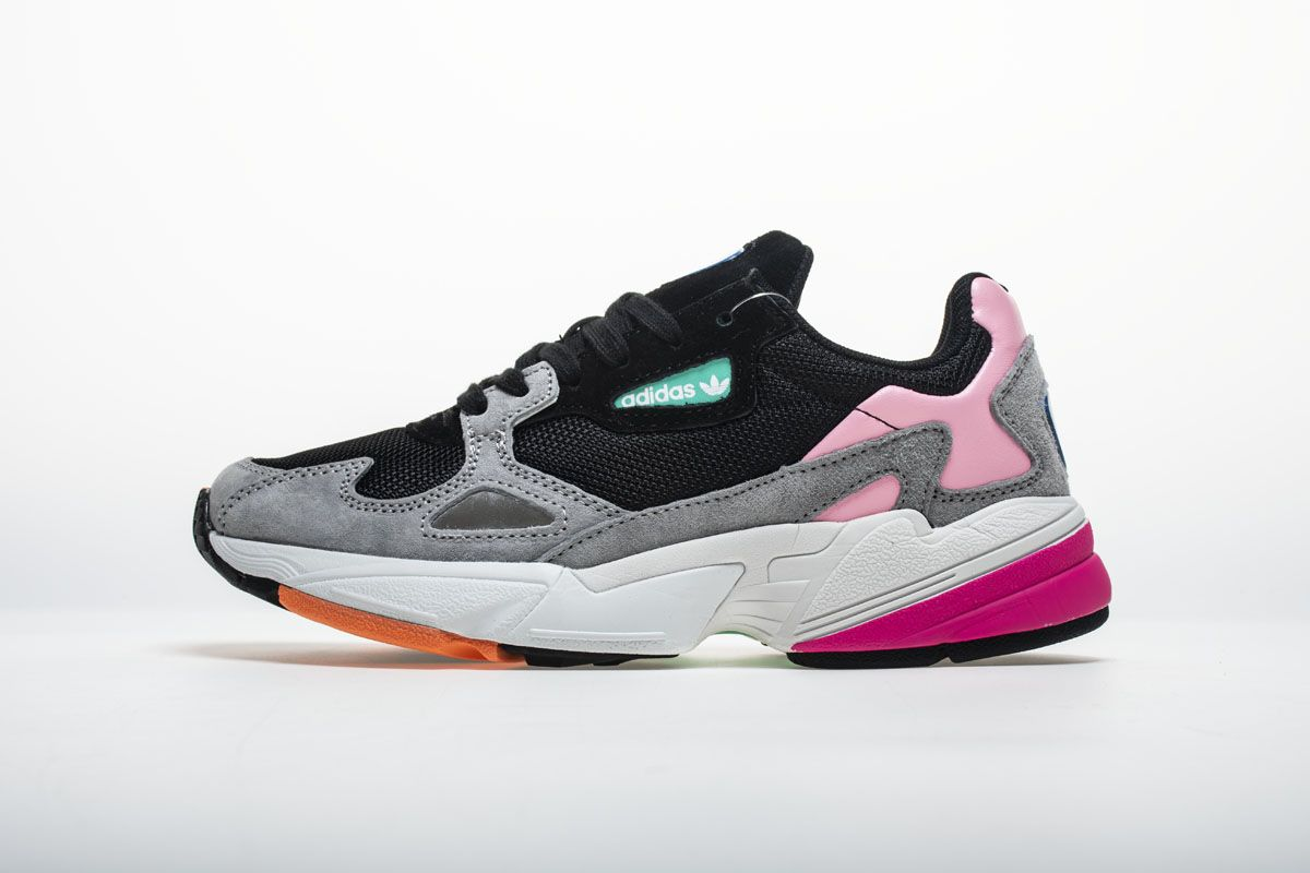 official photos f210a 81975 Adidas Falcon W BB9173 YUNG-2 Black Pink Shoes1