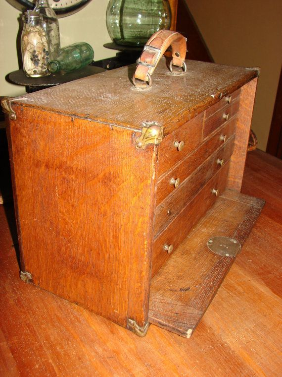 free usa shipping antique quartersawn oak 6 drawer machinist by SimpleRusticElements - sold