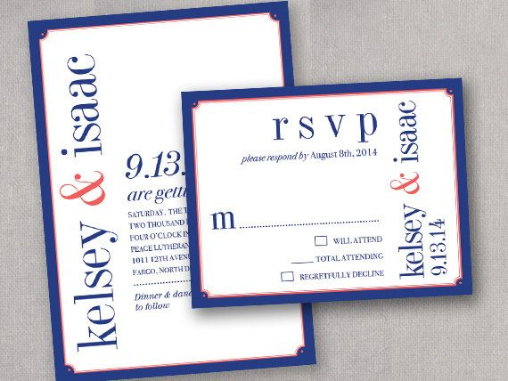 Navy And Peach Wedding Invitations: Navy And Coral Peach Wedding Invitations Invites