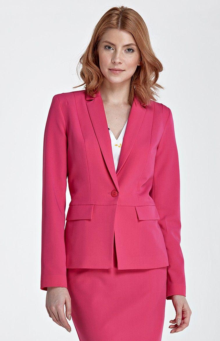 Veste tailleur rouge femme