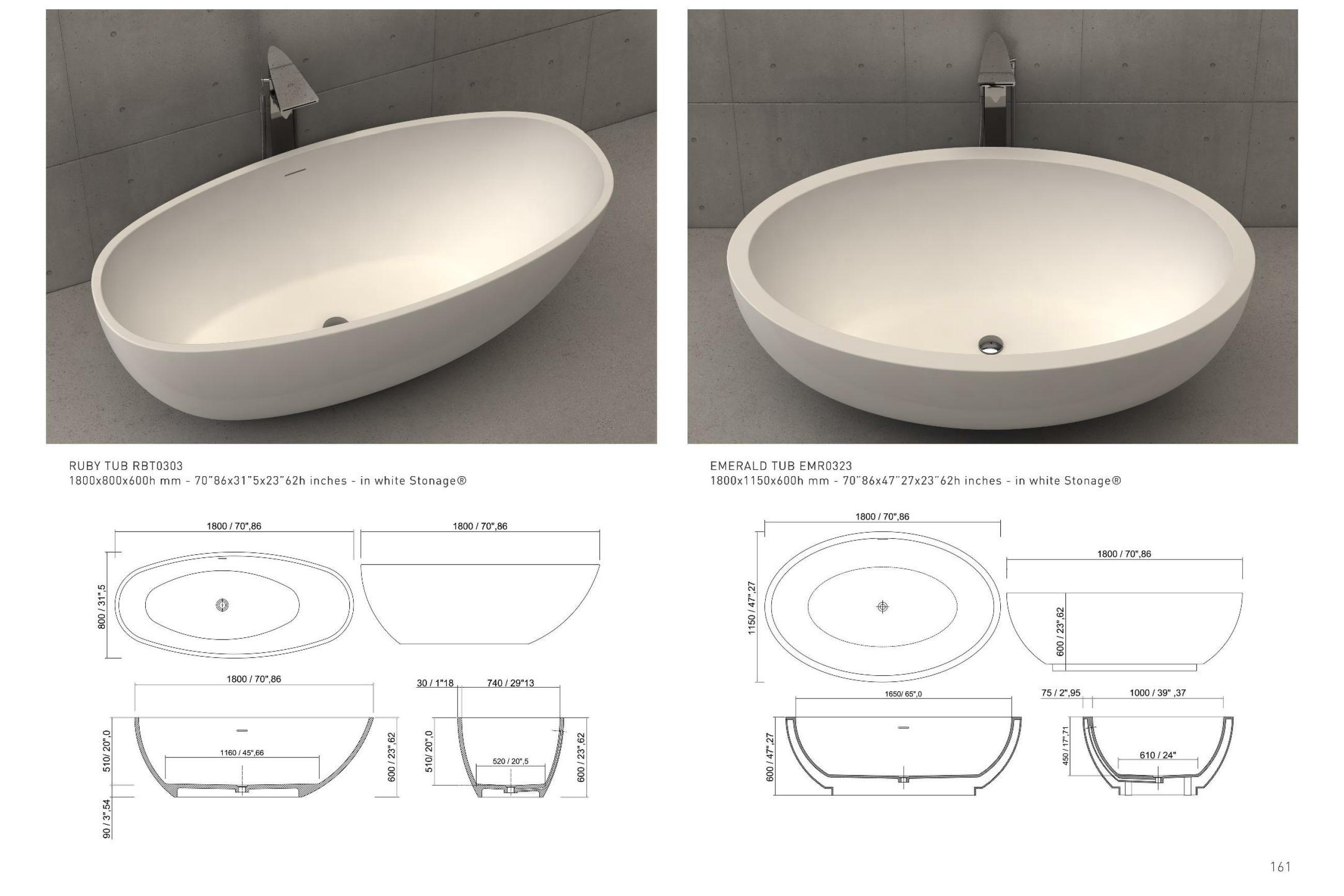 Idee Vasche Round Mirror Bathroom Wash Basin Basin
