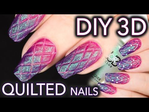 matte quilted nails the easy diy way  youtube using