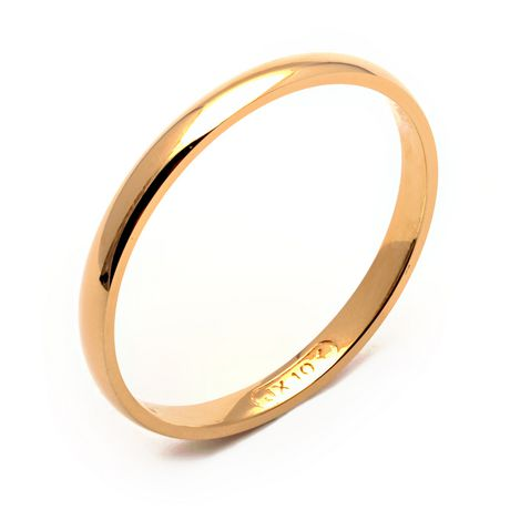 Rex Rings Ladies 10 Kt Yellow Gold Wedding Band 4 5 Online Shopping Canada Wedding Bands Gold