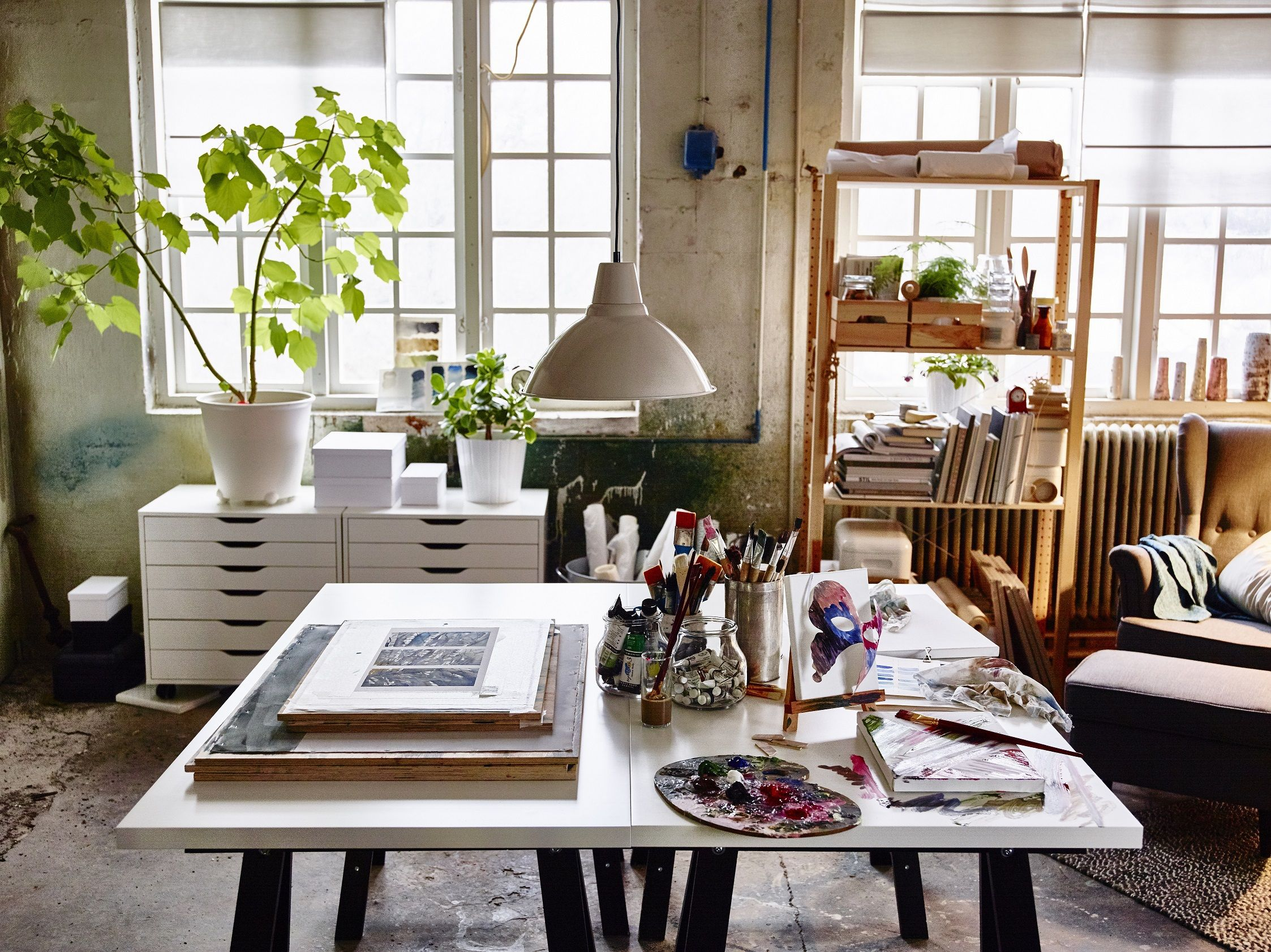 Linnmon oddvald tafel wit zwart art room art