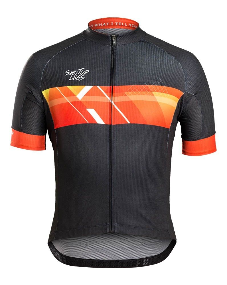 Men Jersey Black Cycling Apparel Cycling Outfit