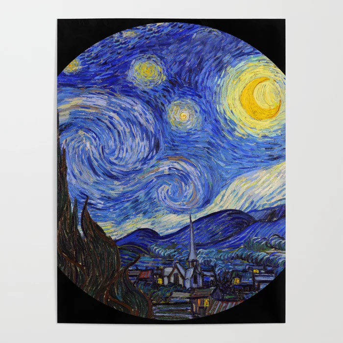 Vincent Van Gogh Starry Night Poster By Dohshin Society6 Starry Night Art Starry Night Van Gogh Vincent Van Gogh