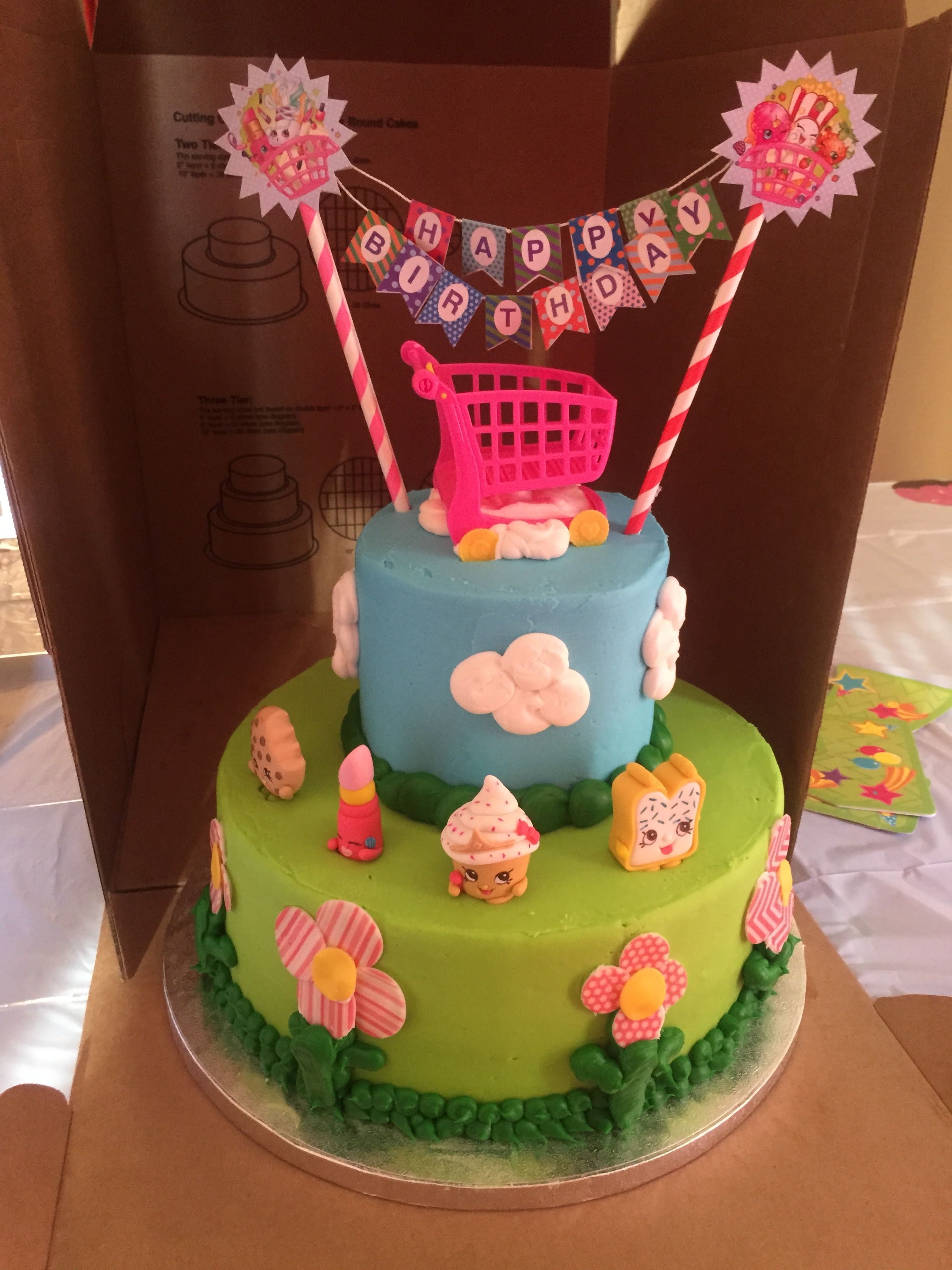 Tremendous Sams Club 2 Tier Cake With Added Shopkins Sams Made The Cake But Funny Birthday Cards Online Alyptdamsfinfo