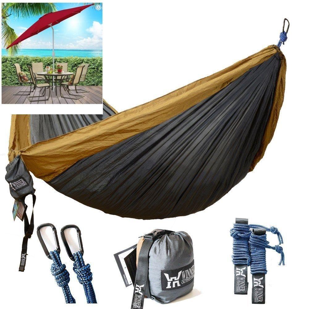 camping hammock winner outfitters double camping hammock lightweight nylon      rh   pinterest