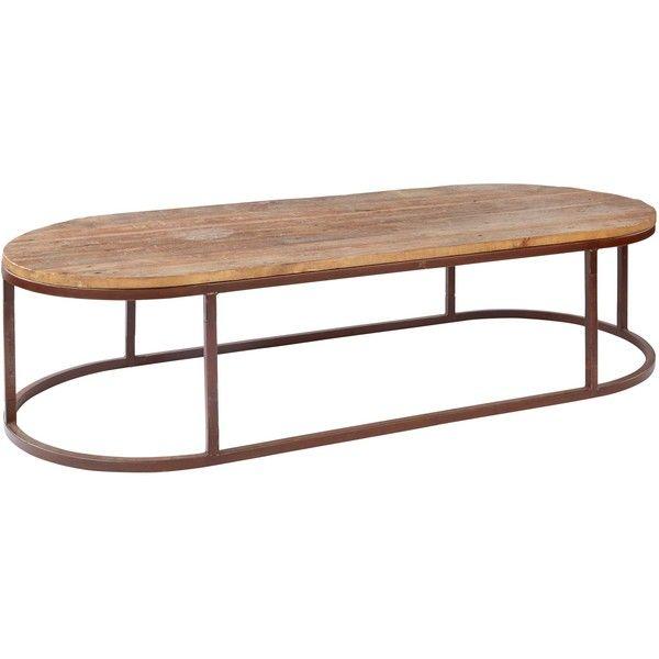 Tilton Rustic Lodge Reclaimed Wood Iron Oval Coffee Table 1 238