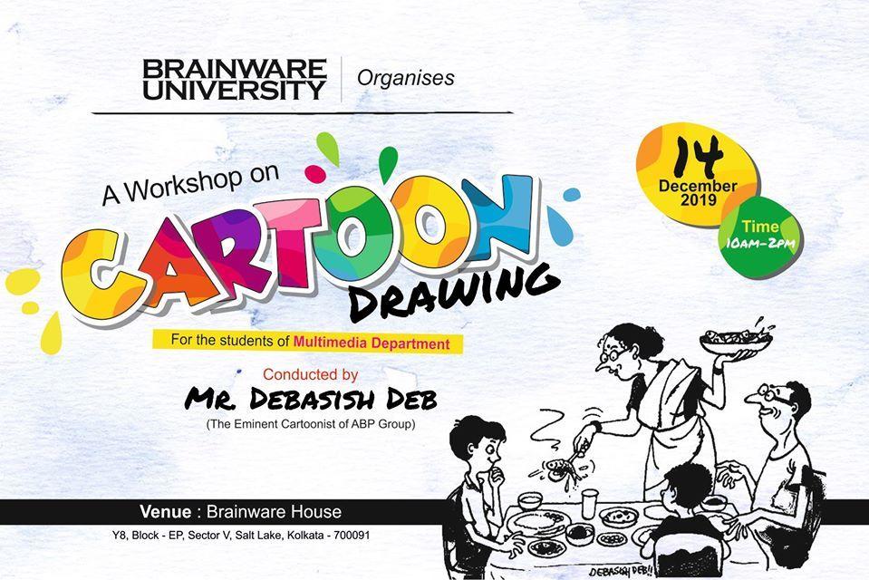Cartoon Workshop Brainware University Kolkata Cartoon Artist