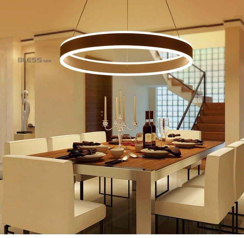 Moderne led ring hanglampen voor eetkamer woonkamer for Led hanglampen woonkamer