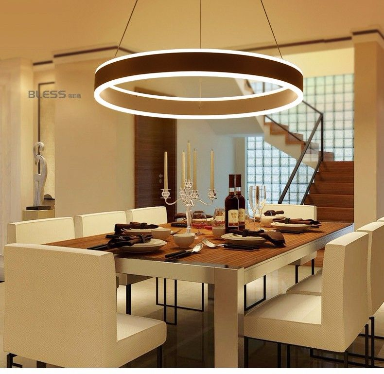 Moderne Led Ring Hanglampen voor Eetkamer Woonkamer Restaurant ...