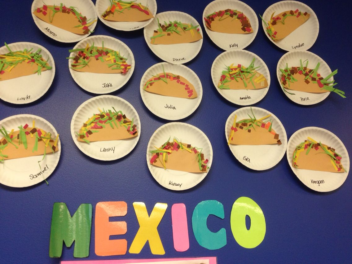 Mexican Tacos Around The World Theme