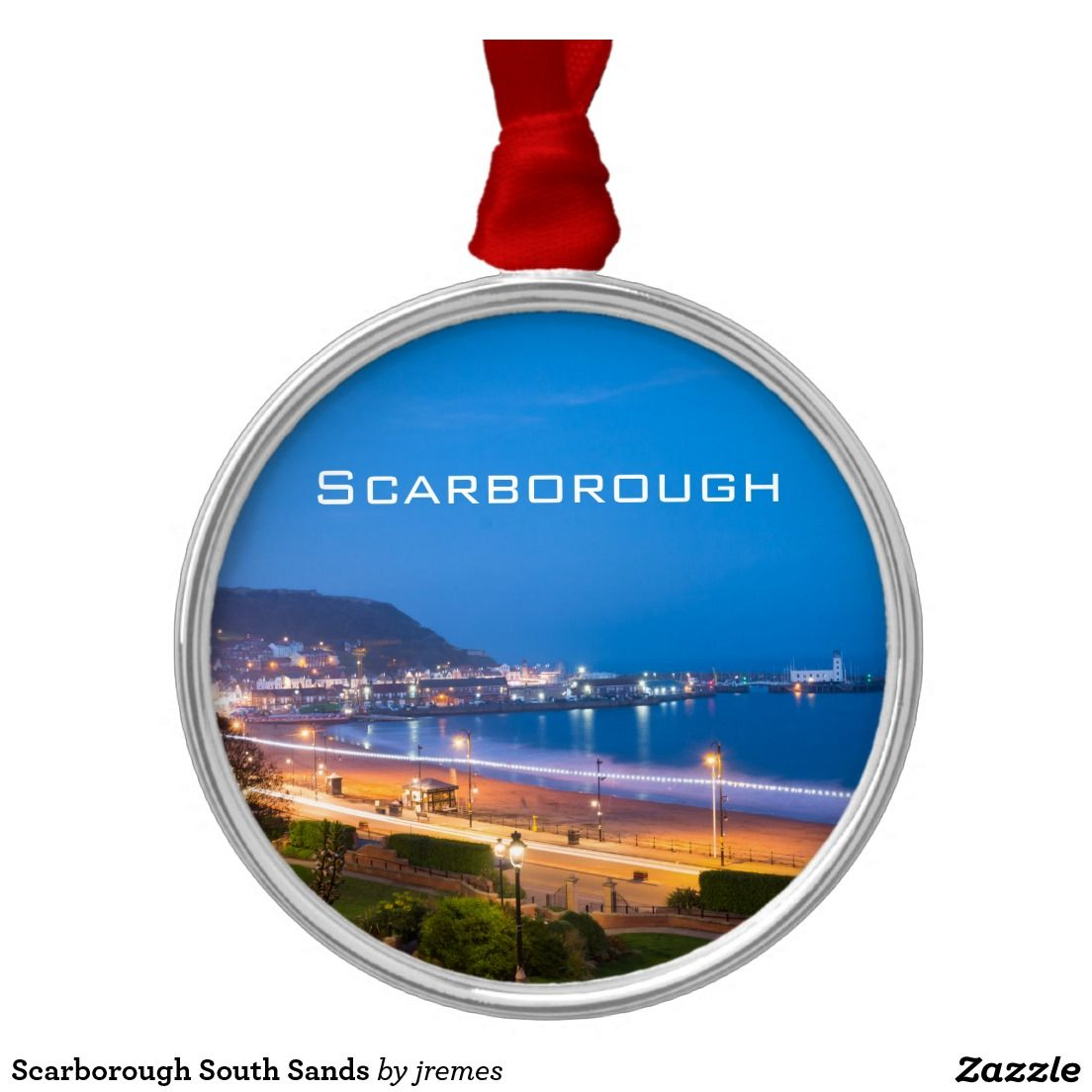 Scarborough South Sands Metal Ornament