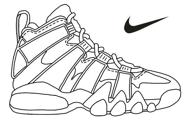 Nike Air Max Printable Coloring Pages Enjoy Coloring Dessin Chaussure Coloriage Croquis De Vetements