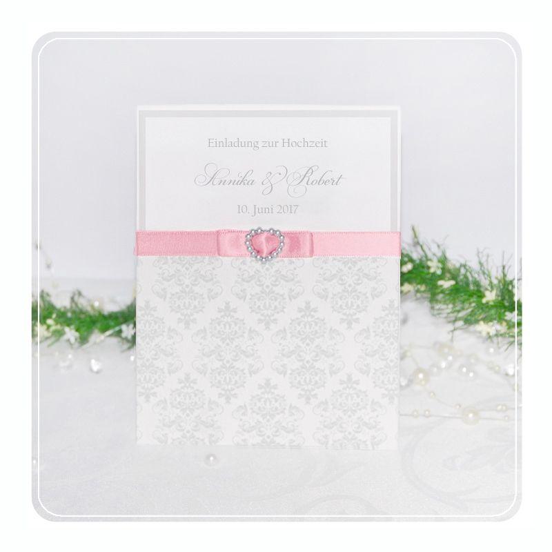 Einladungskarten Hochzeit 034   Pocket   Klassisch Elegant
