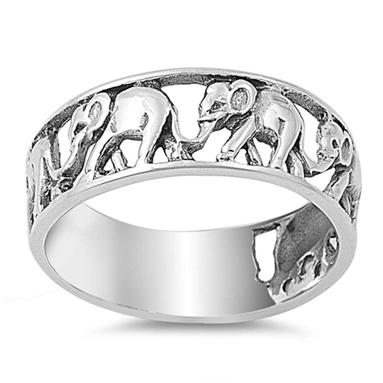 Plain Elephant .925 Sterling Silver Pendant